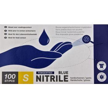 Gants Nitril Bleu 100 Pcs Small Nr 7 Vzb 466001