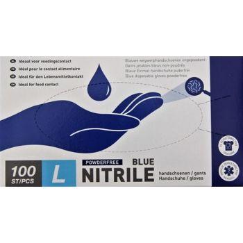 Gants Nitril Bleu 100 Pcs Large Nr 9 Vzb 468005