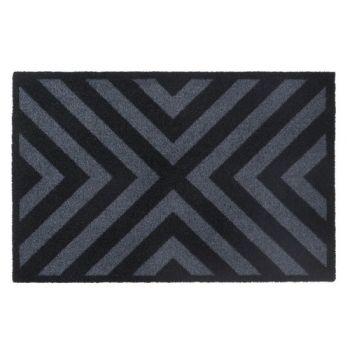 Paillasson Prestige 50x75 Cross Black Hamat 5017