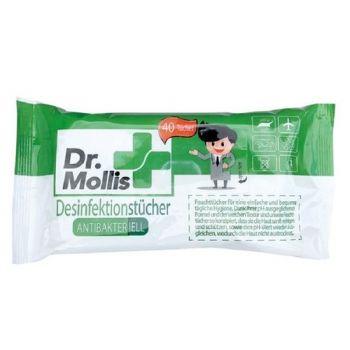 Dr Mollis 40 Lingettes Hygieniques Anti-bactÉriennes Bu 4444