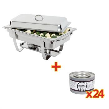 OFFRE SPÉCIALE Chafing dish Milan Olympia GN 1/1 + 24 capsules de gel combustible