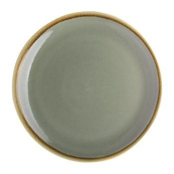 Assiette plate ronde couleur mousse Kiln Olympia 230mm lot de 6