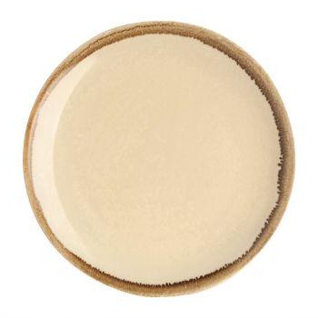 Assiette plate ronde couleur sable Kiln Olympia 230mm lot de 6