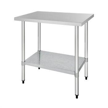 Table de préparation sans rebord en acier inoxydable Vogue 900 x 600mm