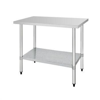 Table de préparation sans rebord en acier inoxydable Vogue 1200 x 600mm