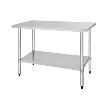 Table de préparation sans rebord en acier inoxydable Vogue 1500 x 600mm