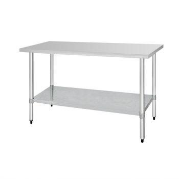 Table de préparation sans rebord en acier inoxydable Vogue 1800 x 600mm
