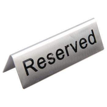 Chevalets de table en acier inoxydable Olympia réservé