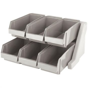 Support Versa avec 6 casiers Cambro