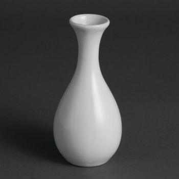 Vases bouteilles blancs 125mm Olympia