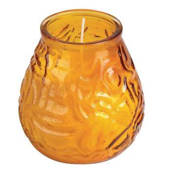 Bougies vénitiennes Bolsius Low Boy ambre