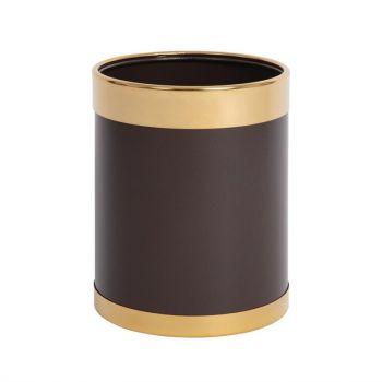 Corbeille à papier avec bordure dorée Bolero